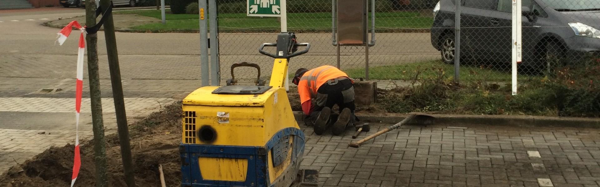 Herstraten parkeerterrein Ovenbouw Velsen