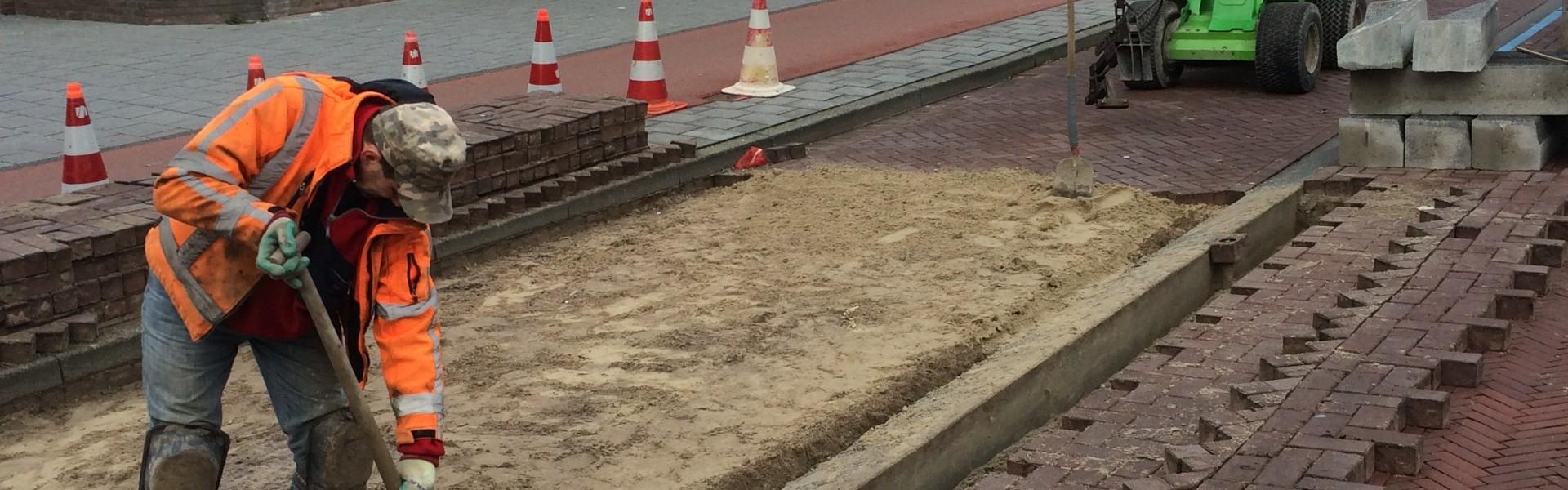 Aanbrengen drempelconstructies vd Pekstraat te Amsterdam