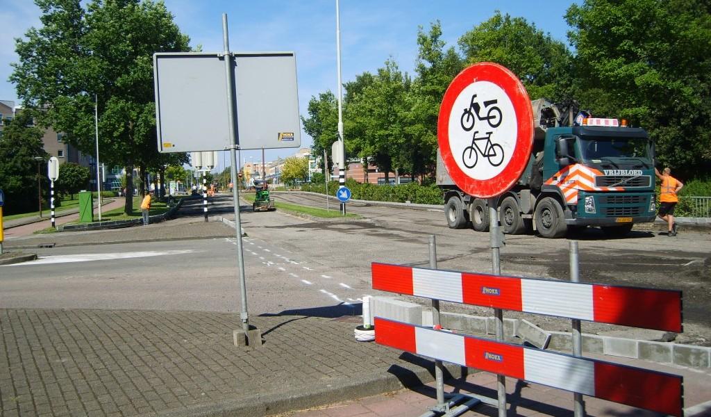 Groot asfalt onderhoud